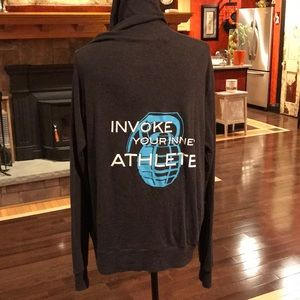 Men's CrossFit invoke triblend zip up hoodie